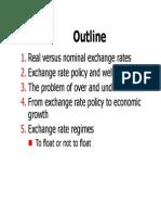 Exchange Rate Regulation