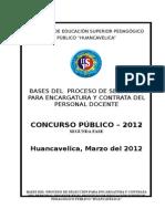 Bases Encargatura y Contrata Del Personal Docente 2012 II