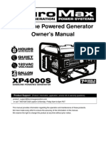 Duro Max Generators XP4000S Manual