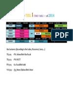6 Pismp Tesl 1 - Time Table