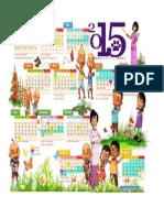 Kalender 2015 Upin dan Ipin