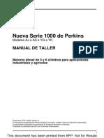 MANUAL DE Taller MOTOR PERKINS SERIE 1000