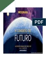 Programa IV Congreso del Futuro