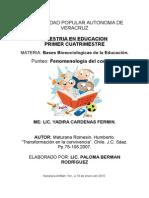 Tema 4. Fenomenología Del Conocer