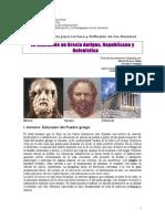 2. La Educación en Grecia. Ficha de Contenidos.yépez.2014