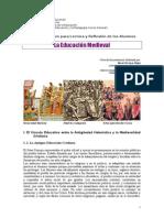 8. La Educación Medieval. Ficha de Documentación Yépez 2014