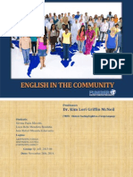 English in the community
