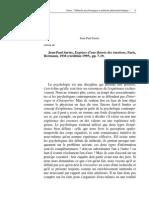 Sartre - Méthode psychologique et méthode phenoménologique