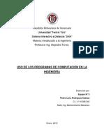 Programas de Computacion Que Se Emplean en Ingenieria (Pedro Rodriguez c.i. 16388340)