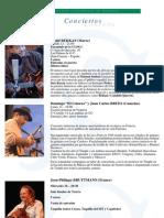 Semana de la Francofonía 2008 - Conciertos