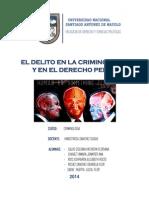 El Delito Para La Criminologia y Derecho Penal- Rios