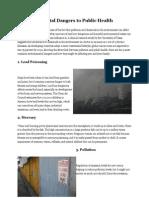5 Environmental Dangers to Public Health