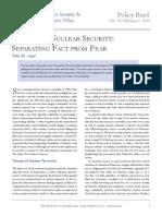 2014 Azad Pakistans Nuclear Security