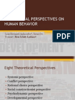 Theoretical Perspectives on Human Behavior