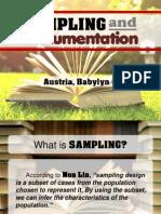 Sampling and Instrumentation