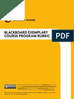 Bb Exemplary Course Rubric Nov2013