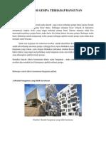 Evaluasi Gempa Terhadap Bangunan