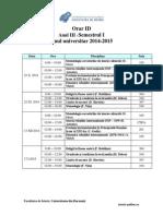 Orar ID an III Sem I 2014 15