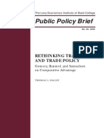 Palley on Trade Policy