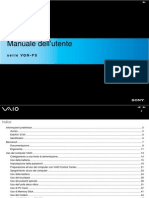 SONY VGN FS MANUAL ITALIAN