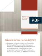 Fault Tolerance in WSN