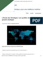 L'Ecole Des Stratèges_ Les Qualités Des Grands Stratèges _ Alexandre Delivré