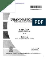 Naskah Soal UN Kimia SMA 2013 Paket 1