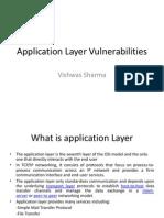 Application Layer Vulnerabilities