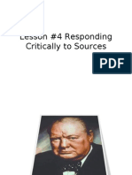 #4 Responding Critically to Sources
