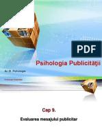 A 09 PUB Evaluarea Mesajului Publicitar 2009