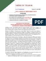 Bulletin Lumiere du Thabor No. 5, 2002.