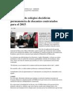 Contrato de Docentes 2015