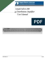 MDA-100 User Manual