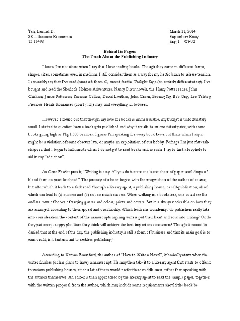 what a college application essay should look like
