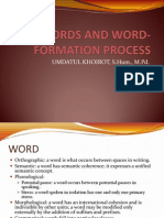 Words and Word-Formation Process
