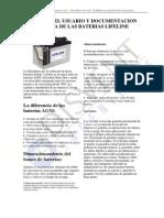 Manual de Las Baterias Lifeline
