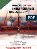 Tutorial AAMAI LSPP 102 - Hukum Asuransi -Maret 2015