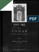 El Zohar Traducido Explicado y Comentado parte 1