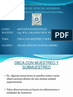 DBCA c Muestreo y Submuestreo