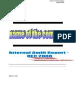 Sample 2 Internal Audit