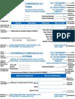 Modelo de Facturas y Notas de Credito