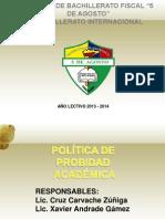 FILOSOFÍA DE PROBIDAD ACADÉMICA DEL COLEGIO