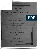 Analysis of T Formation With Man-In-Motion