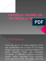 GROUPS OF THEORIES ON THE ORIGIN OF RELIGION