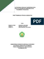 Analisis Faktor Risiko Penyakit Hipertensi Pada Masyarakat Di Kecamatan Kemuning Kota Palembang Tahun 2012