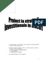 Proiect strategii