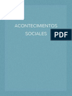 acontecimientos sociales