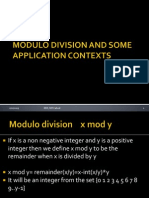 Modulo Division