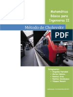 MMétodo de Cholesky