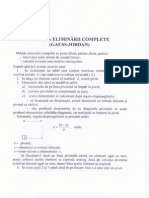 Metoda Eliminarii Complete GAUSS JORDAN